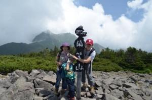 家族で編笠山登山