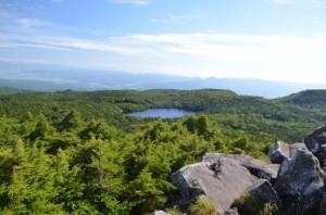 高見石から見た白駒池