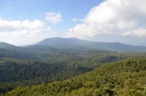 八ヶ岳にゅうから茶臼山方面