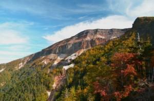 硫黄岳と紅葉