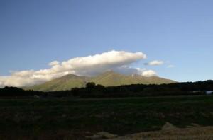 富士見町から見た八ヶ岳