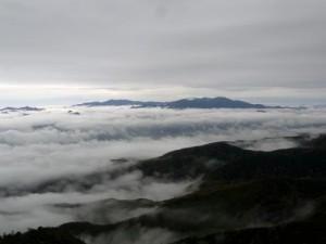 にゅう山頂から金峰山