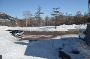 高峰高原ビジターセンター駐車場