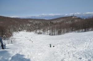 入笠山でスノーシュー