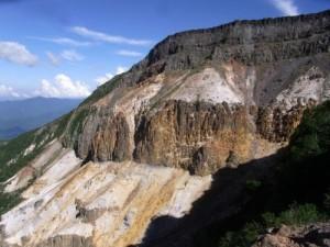 八ヶ岳 硫黄岳の爆裂火口