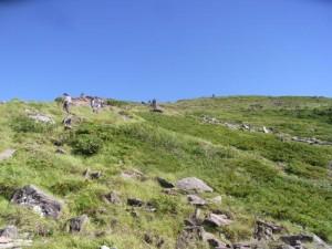 八ヶ岳硫黄岳の登り