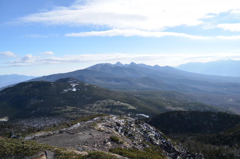 北横岳山頂(南峰)からの展望
