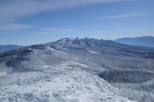 北横岳山頂より南八ヶ岳の展望
