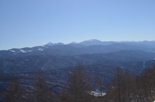 守屋山東峰より南アルプス