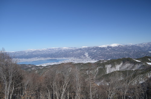 守屋山西峰から諏訪湖の展望
