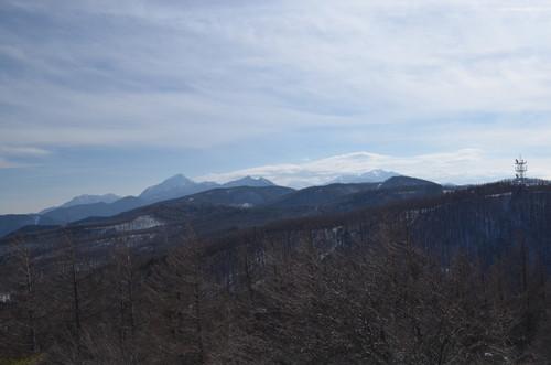 入笠山山頂からの景色(南アルプス)