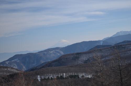 入笠山山頂からの景色(富士山)