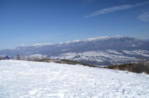 入笠山山頂からの景色(八ヶ岳)