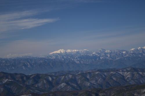 入笠山山頂からの景色(乗鞍岳)