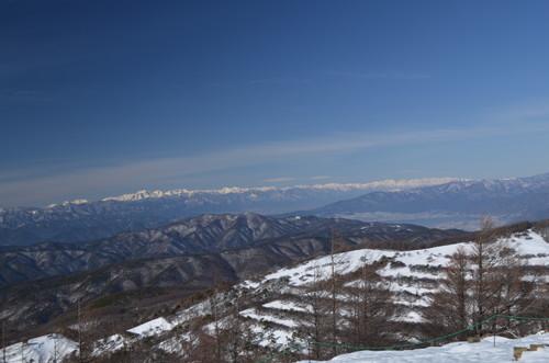 入笠山山頂からの景色(北アルプス)