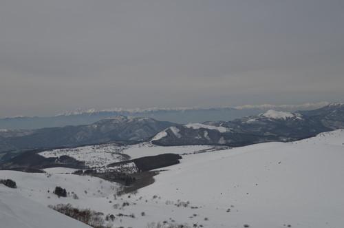 車山山頂より北アルプスの展望