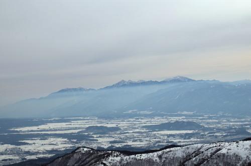 車山山頂より南アルプスの展望