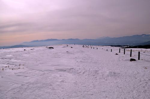 車山山頂と中央アルプス