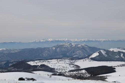車山山頂より北アルプス穂高付近