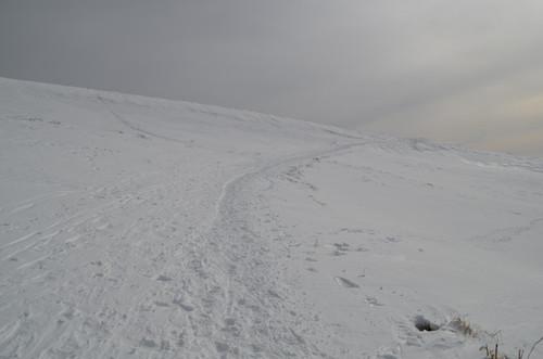 車山からの下り斜面