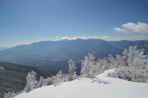 八ヶ岳西岳山頂から見た南アルプス