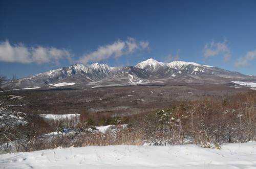 平沢峠から八ヶ岳を望む