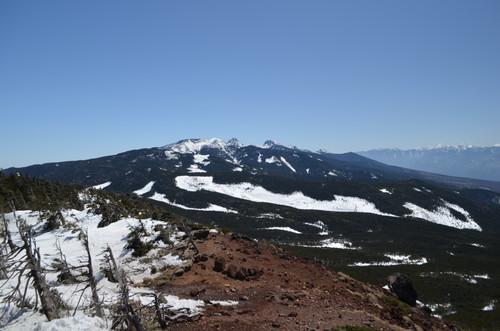 茶臼山展望台より南八ヶ岳の山々の眺め
