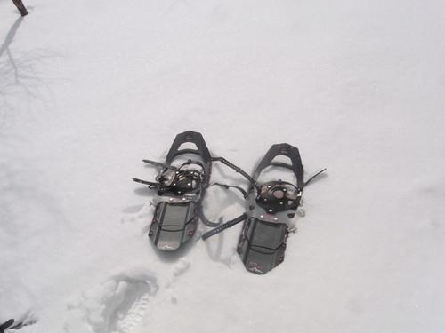 MSRスノーシューREVOアッセント 雪の上