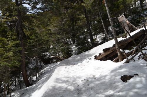 北横岳への登り