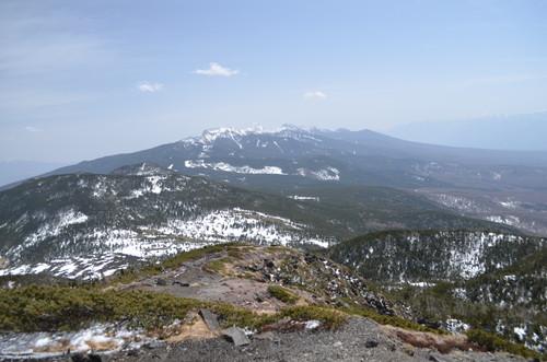 北横岳南峰山頂から見る南八ヶ岳