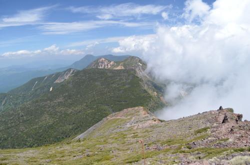 硫黄岳から北八ヶ岳方面の展望