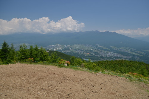 入笠山山頂から見る八ヶ岳