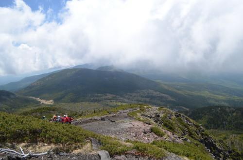 北横岳山頂からの南八ヶ岳方面の展望