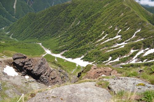 上から見た大樺沢
