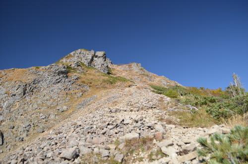 権現岳への登り