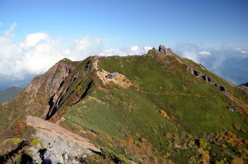 ギボシから見る権現岳山頂