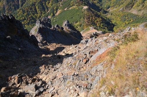 赤岳への急登