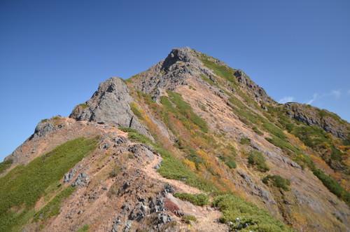 赤岳手前の岩峰