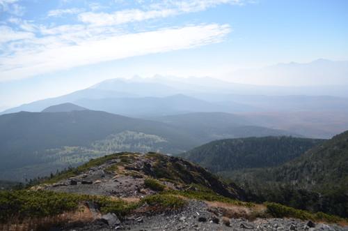 北横岳南峰から見る南八ヶ岳