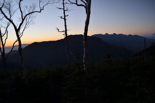 夜明け前の八ヶ岳