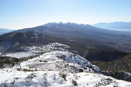 北横岳南峰から南八ヶ岳方面の眺め