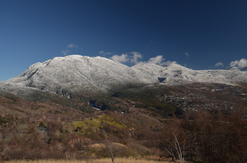 八子ヶ峰稜線から見る北横岳