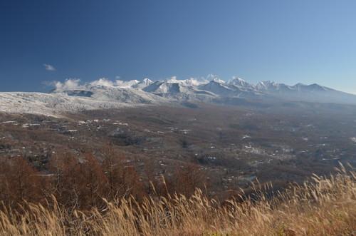 八子ヶ峰稜線から見る南八ヶ岳の峰々