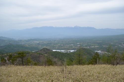 平沢山から見る南アルプス
