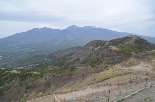 飯盛山山頂から見る八ヶ岳