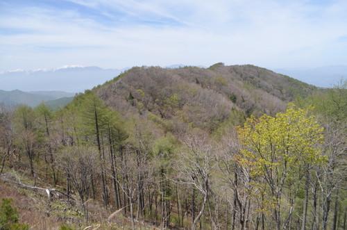 守屋山東峰から見る西峰