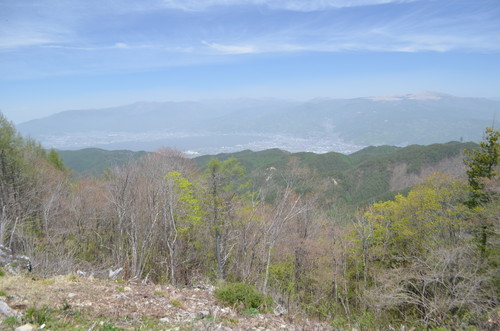 守屋山西峰山頂から見る諏訪湖