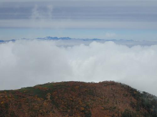 小仙丈ヶ岳から見る北アルプス