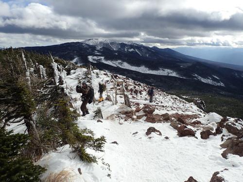 茶臼山展望台から見る南八ヶ岳