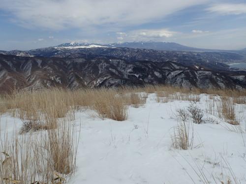 山頂から見る八ヶ岳